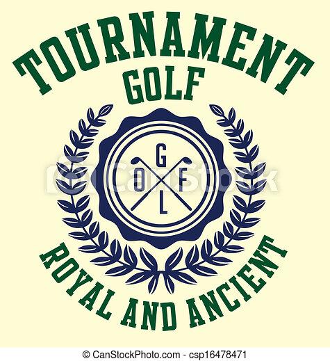 golf sports equipment vector art - csp16478471
