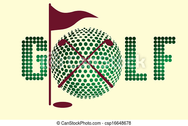 golf sports equipment vector art - csp16648678
