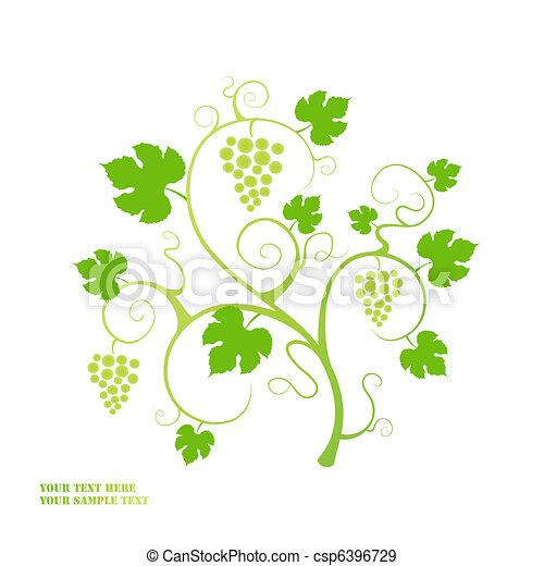 Grape vine background. - csp6396729