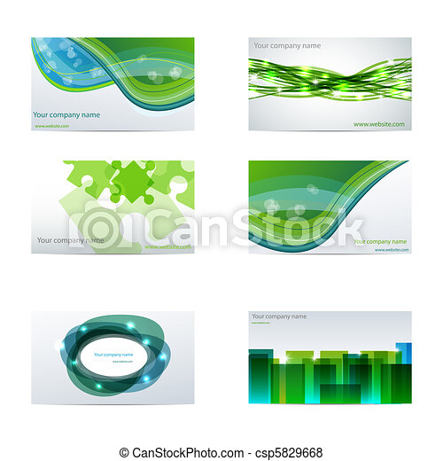 Green business cards - csp5829668