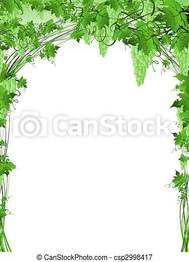 green grape vine frame - csp2998417