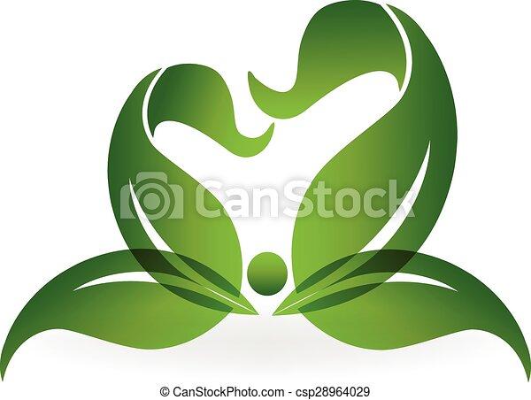 Green healthy life logo - csp28964029