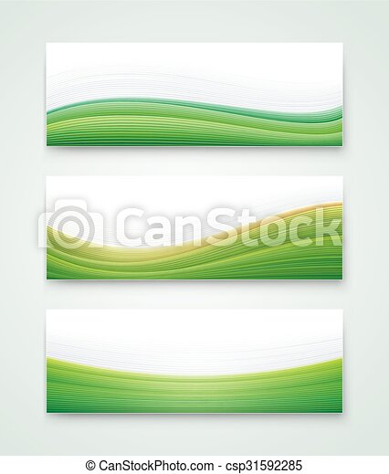 Green Landscape Banner - csp31592285