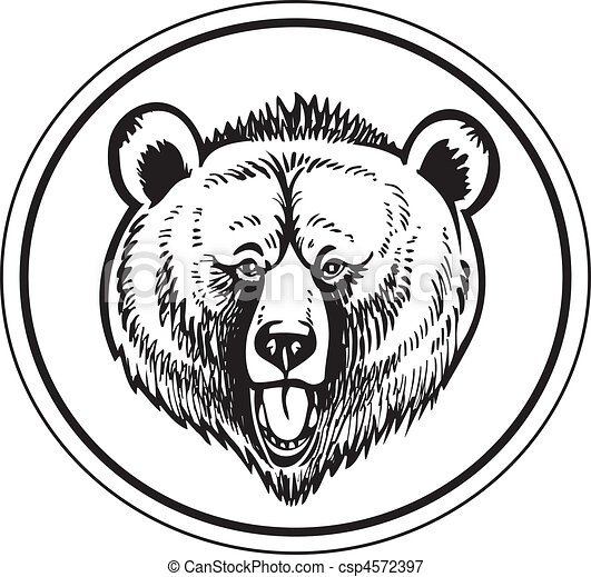 Grizzly Brown Bear Vector - csp4572397