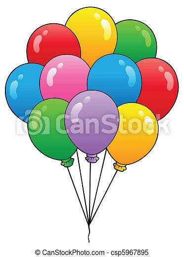 Group of cartoon balloons 1 - csp5967895