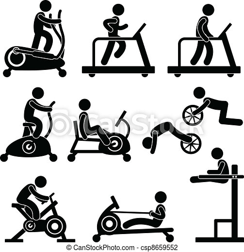 Gym Gymnasium Fitness Exercise - csp8659552