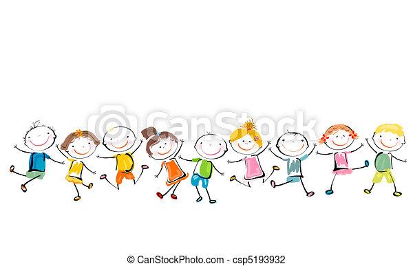 happy kids playing - csp5193932