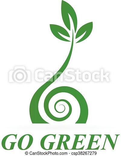 Healthy green icon logo - csp38267279