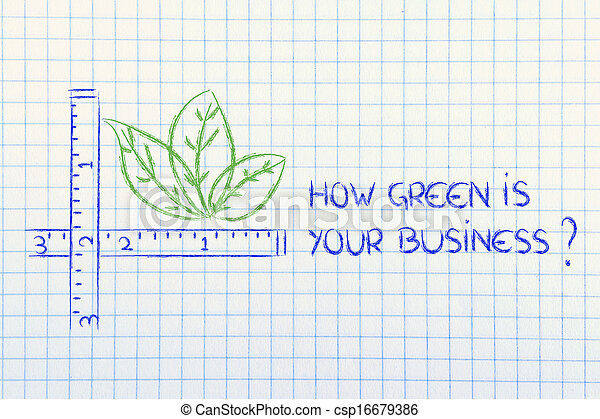 how green is your business? - csp16679386