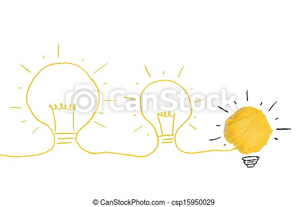 Idea and innovation concept - csp15950029