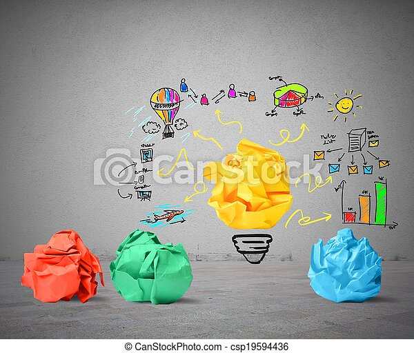 Idea and innovation concept - csp19594436