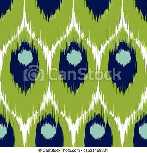 Ikat seamless pattern - csp31469301