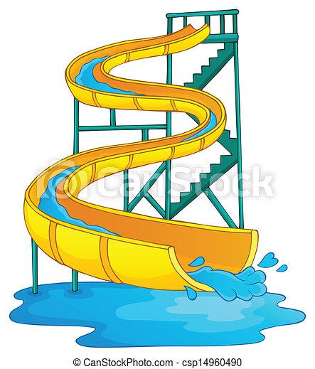 Image with aquapark theme 2 - csp14960490