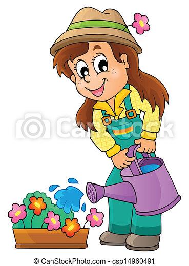Image with gardener theme 1 - csp14960491