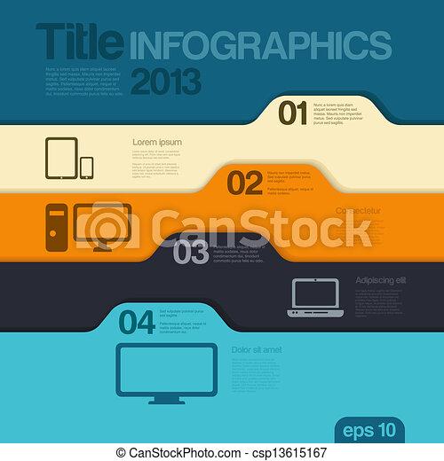Infographics design template. Vector. Editable. - csp13615167