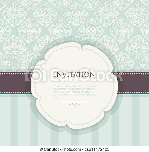 Invitation vintage background - csp11172425