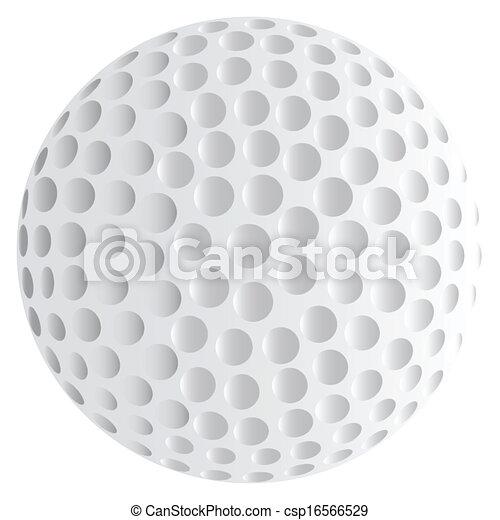 Isolated Golf Ball - csp16566529