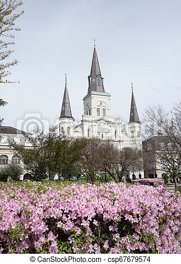 Jackson Square in the French Quarter of New Orleans - csp67679574