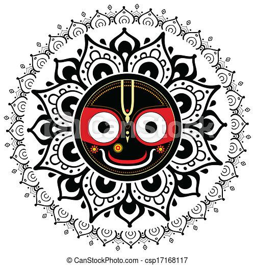 Jagannath. Indian God of the Universe. - csp17168117