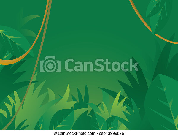 Jungle background with copyspace - csp13999876