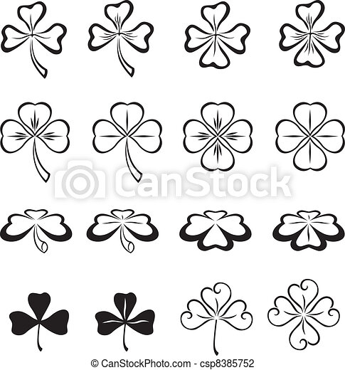 Leaves of clover - csp8385752