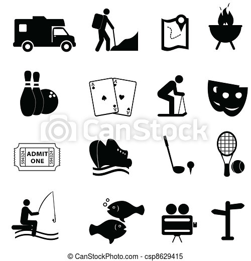 Leisure and fun icons - csp8629415
