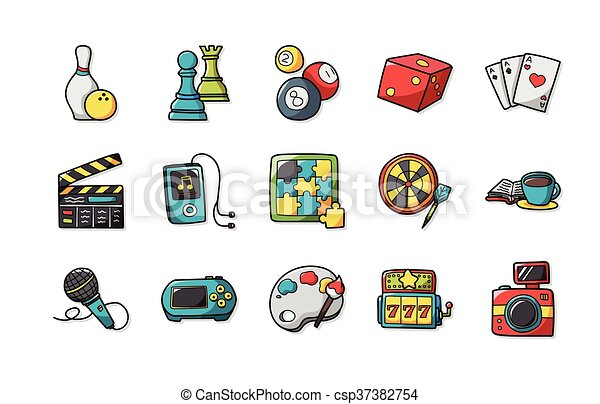 Leisure and hobby icons set, eps10 - csp37382754