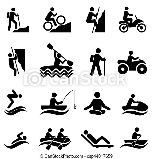 Leisure and recreational activities icons - csp44017659