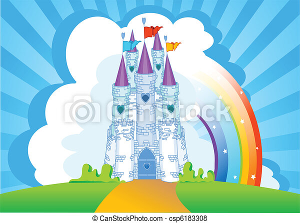 Magic Castle invitation card - csp6183308