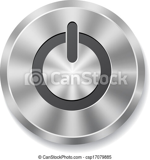 Metal round button on energy - csp17079885