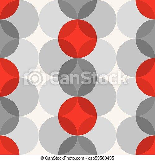Mid Century Modern 1950s Style Vintage Retro Atomic Seamless Background Pattern - csp53560435