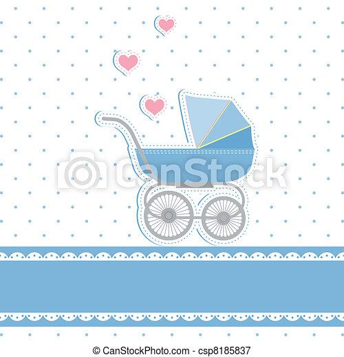 New baby boy shower invitation card - csp8185837