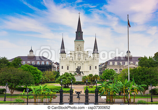 New Orleans at Jackson Square - csp37300652