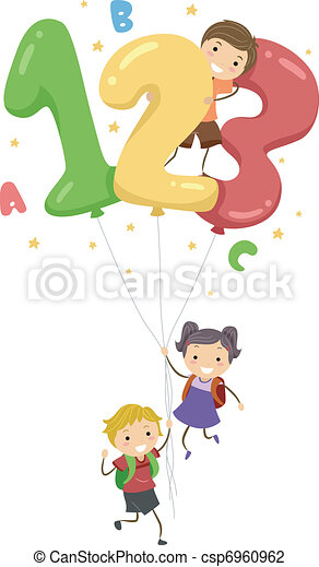 Number Balloons - csp6960962