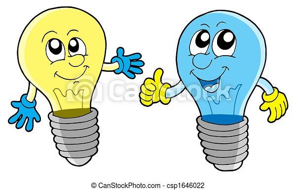 Pair of cute lightbulbs - csp1646022