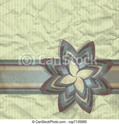 Paper Flower - csp7135685