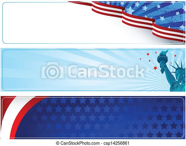 Patriotic banners - csp14256861
