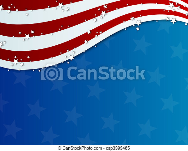 patriotic fourth of july background - csp3393485