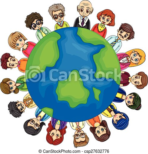 People and Earth - csp27632776