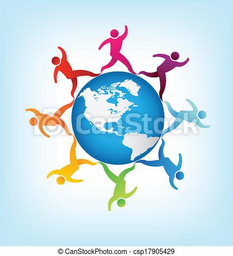 People around the world Americas - csp17905429