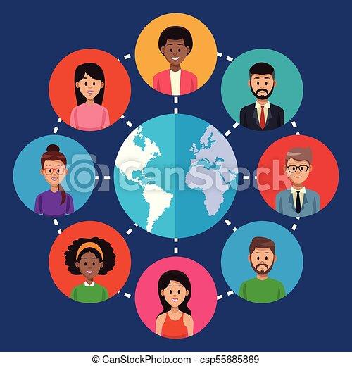 People around the world - csp55685869