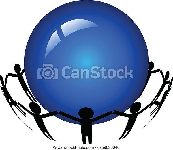 people around the world - csp9635046