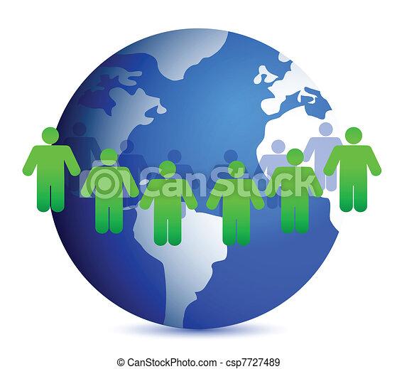 people around the world - csp7727489