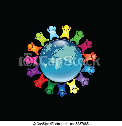 People around the world logo - csp8387685