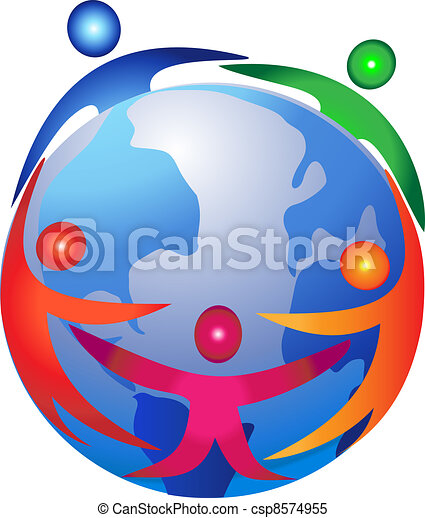 People around the world logo - csp8574955