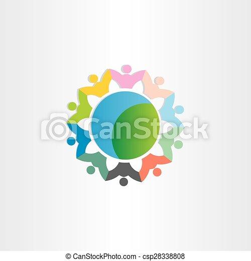people around the world symbol - csp28338808