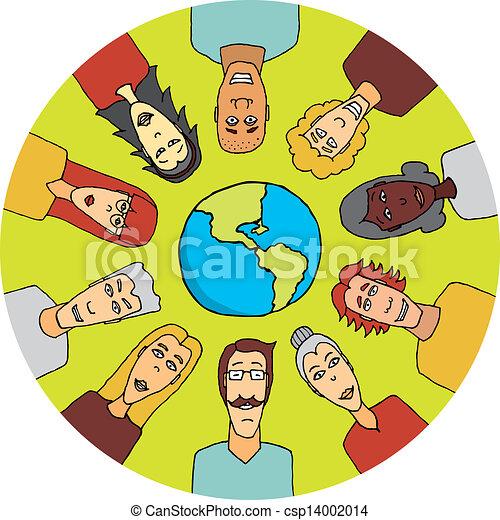 People around the world united - csp14002014