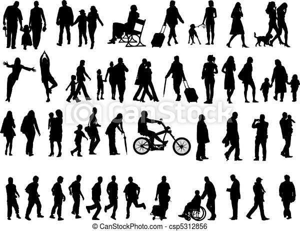 People over 50 Silhouettes - csp5312856
