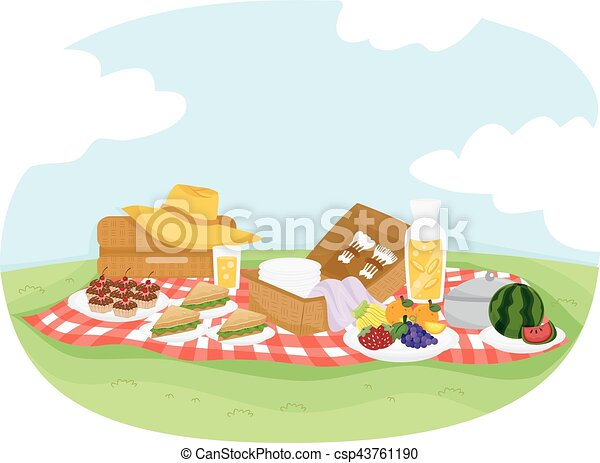 Picnic Food Mat Outdoors - csp43761190