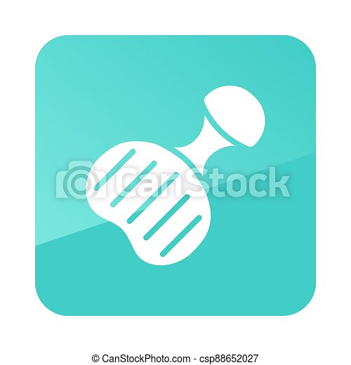 Plastic sled vector icon. Winter sign - csp88652027